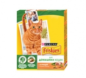 FRISKIES INDOOR для домашних кошек с курицей и садовой зеленью / 1,5 кг