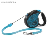 Рулетка Triol Flexi Colour Blue трос, S, 5 м до 12 кг