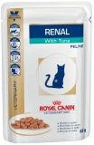 ROYAL CANIN RENAL FELINE WITH TUNA (РЕНАЛ ФЕЛИН С ТУНЦОМ), ПАУЧ / 85 г - Упаковка 12 шт.